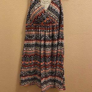 Derek Heart Tribal print navy dress Size M